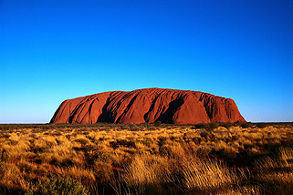 Sacred Place Ayers Rock, Australia Under a Blue Sky