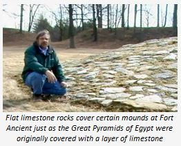 Flat limestone rocks cover certain mounds at Sort Ancient