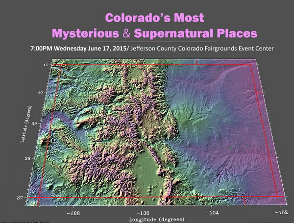 Colorado Relief Map Mysterious, Supernatural & Sacred Places