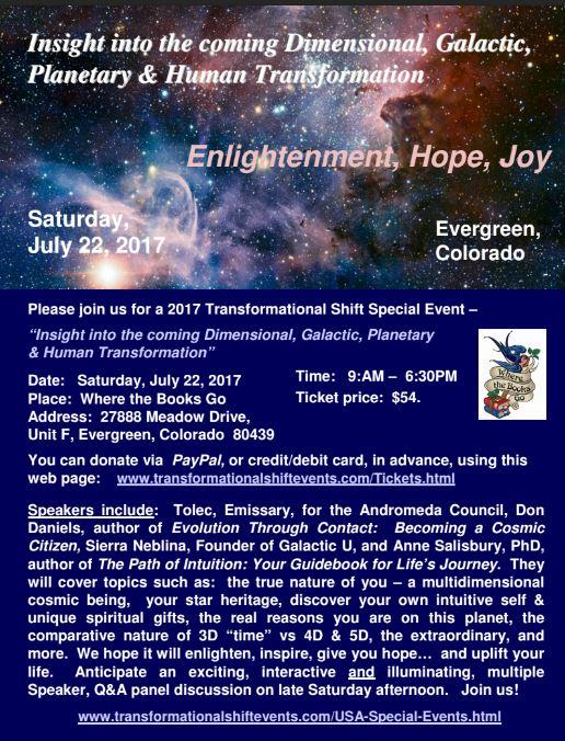 Tolec Colorado Special Event 7-22-17