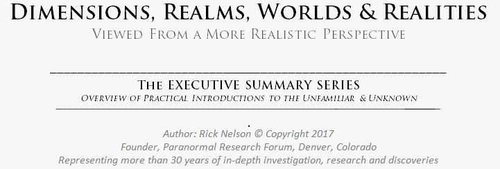 Dimensions, Realms, Worlds & Realities